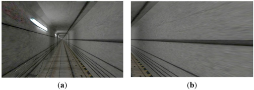 Examples of visual simulation scene: (a) Front view; (b) Side view.
