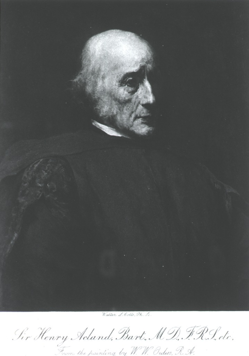 <p>Head and shoulders, face to right. Wearing gown. Shown as an old man.</p>