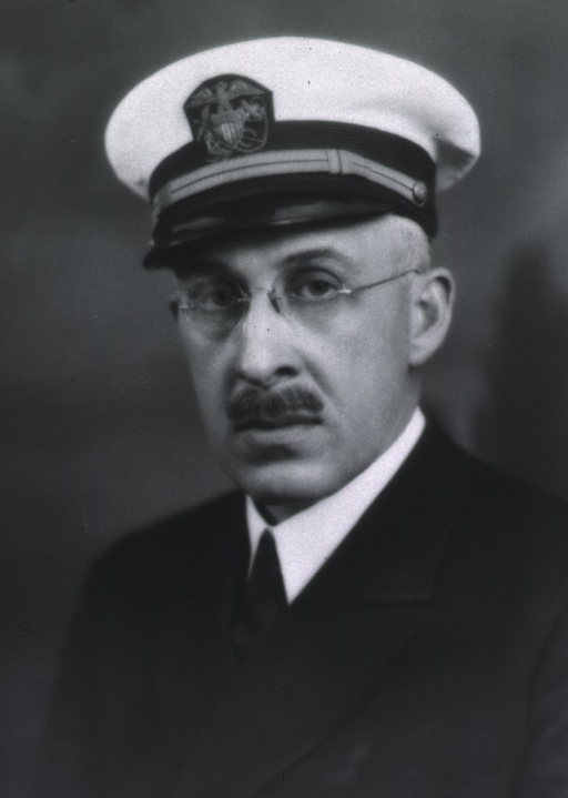 <p>Bust, full face, wearing white cap with USPHS insignia.</p>