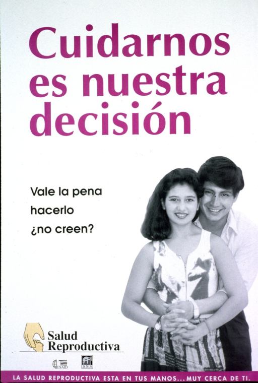 <p>Predominantly white poster with multicolor lettering.  Title at top of poster.  Caption below title asks the rhetorical question &quot;it's worth the trouble, don't you think.&quot;  Visual image is a b&amp;w photo reproduction featuring a young, male-female couple.  The man has his arms around the woman's waist.  Publisher and sponsor information near lower left corner.  Note at bottom of poster.</p>