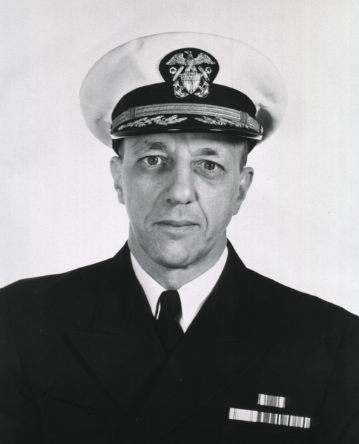 <p>Head and shoulders, full face, naval uniform, cap.</p>
