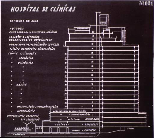 <p>Plans for Hospital de Clinicas, Montevideo, Uruguay.</p>