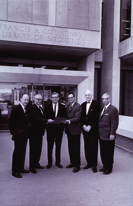 <p>Group on front entrance.  Award of Merit from American Institute of Architects, May 17, 1966.</p>