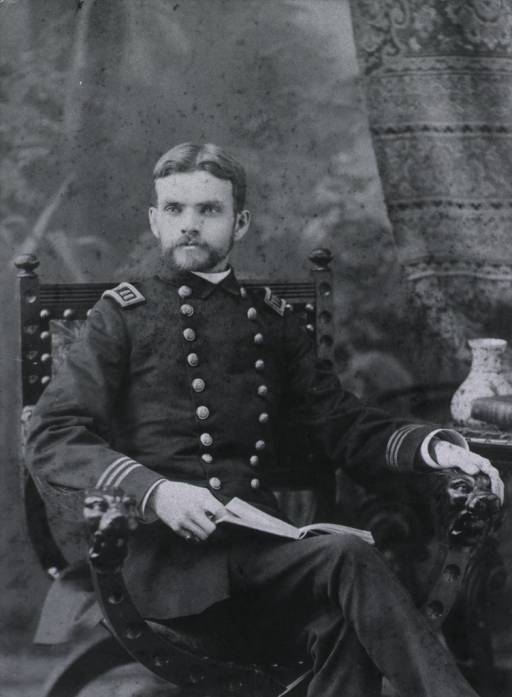 <p>Three-quarter length, seated in arm chair, wearing USPHS uniform.</p>