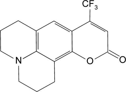 Coumarin 153 (C153) structure