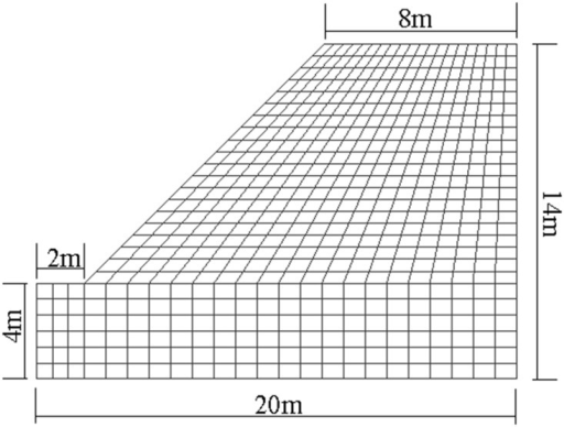 The model of non-homogeneous rock slope