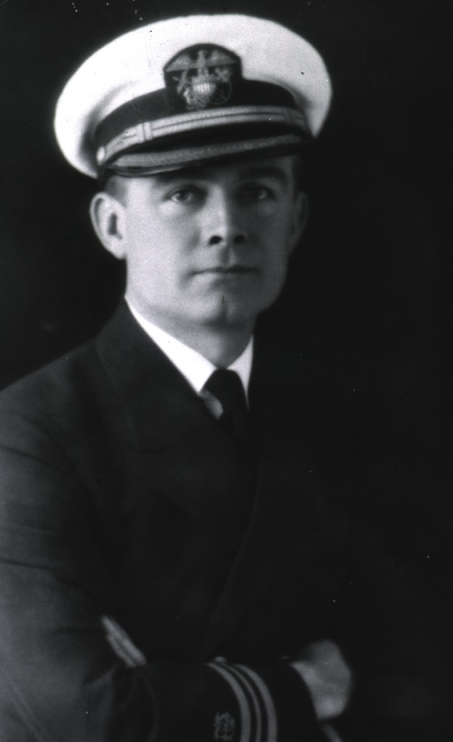 <p>Half-length, full face, body to right, arms folded, wearing USPHS uniform with white cap.</p>
