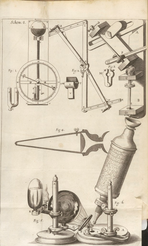 <p>Microscope with detailed view of optical system, as well as other mechanical drawings.</p>