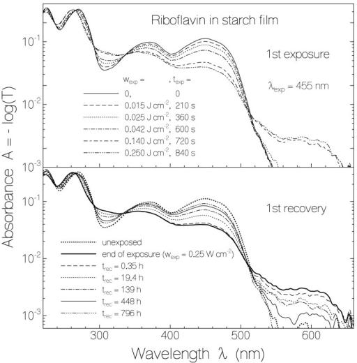 riboflavin fluorescence spectra