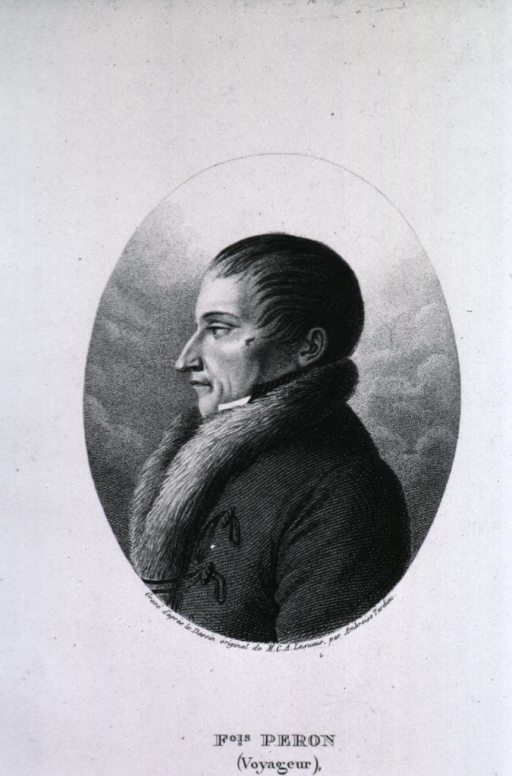 <p>Left profile, wearing coat with fur.</p>