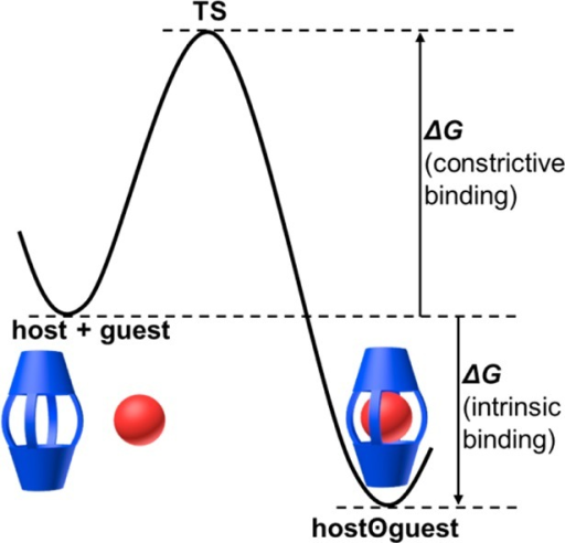 Energydefinitions for host–guest complexation by a carcerandor hemicarcerand.