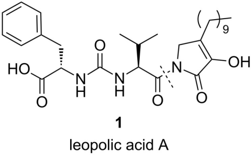 Structure of leopolic acid A.