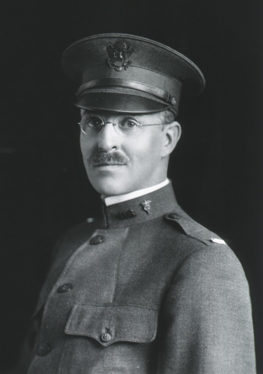 <p>Head and shoulders, left pose, face front, wearing uniform and cap, M.C.</p>