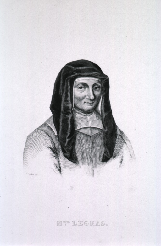 <p>Head and shoulders, right pose, full face; wearing nun's habit.</p>
