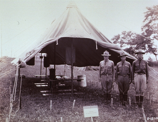 <p>Interior view of a bath and preparation tent.</p>