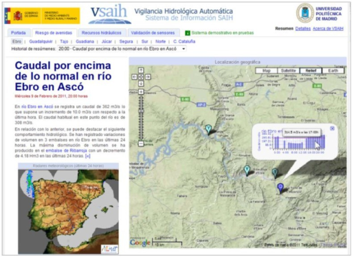 Example of a presentation generated by the VSAIH application.