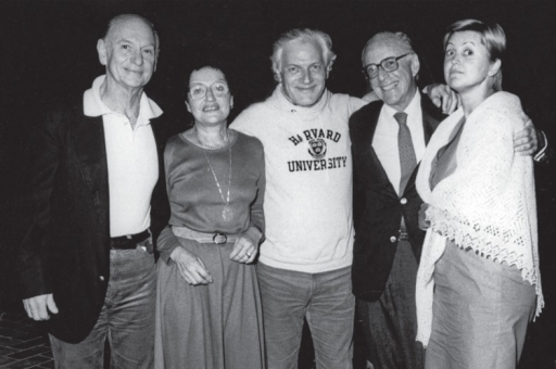 From left to right: Alexander Margulis, Mrs. Abrams, Ivo Obrez, Herbert Abrams and Hedvig Hricak on the occasion of Joint meeting and postgraduate course organized by Ivo Obrez and ECA, ESCVIR and ASCVIR in Dubrovnik in 1983.