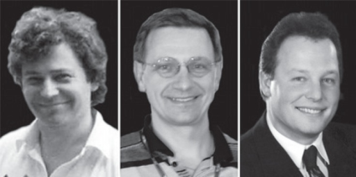 The pioneers of interventional radiology. From left to right: Janko Klančar, Pavle Berden and Jernej Knific.