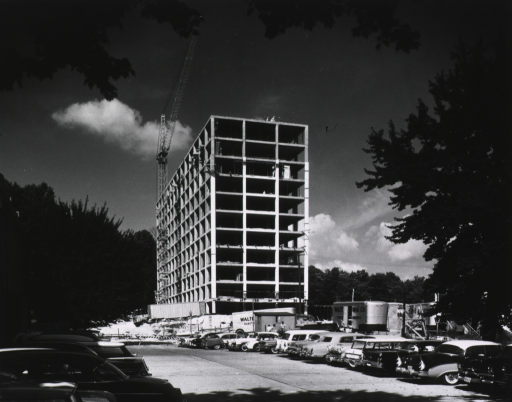 <p>View showing Building 31 under construction.</p>