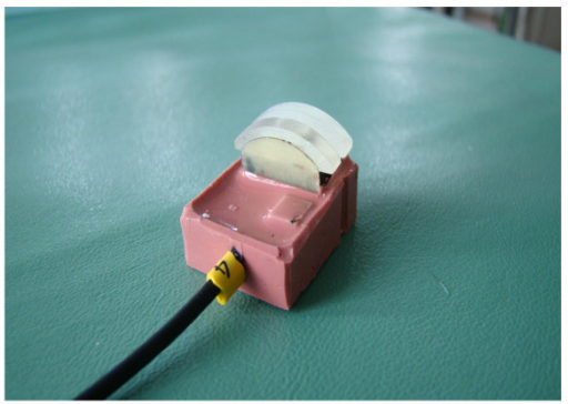 Used forced sensor for tension measurements developed by Applied Medical Engineering, Helmholtz Institute, RWTH Aachen, Germany.