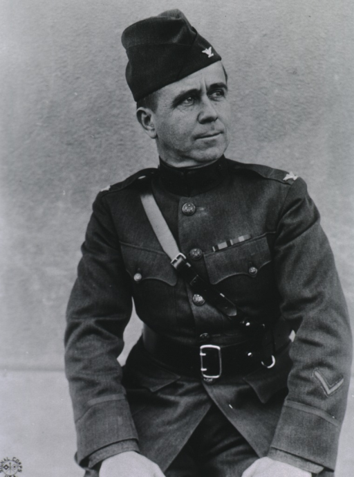 <p>Half-length, front pose, head turned to the right; wearing uniform and cap.</p>