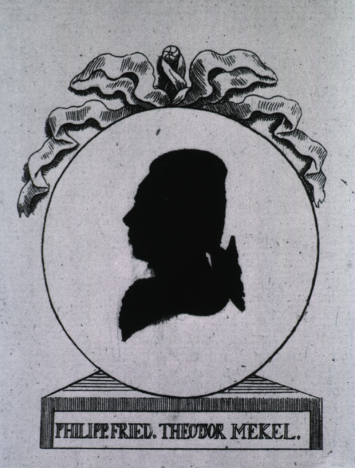 <p>Left profile; oval tied with wreath.</p>