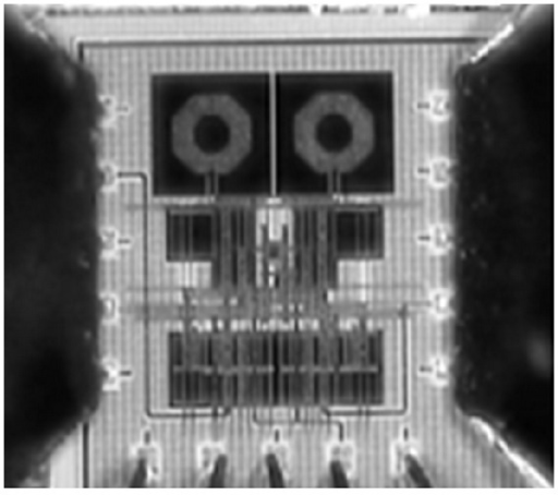 A chip micrograph of the proposed mixer.