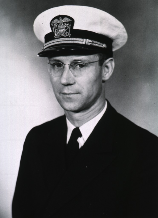 <p>Half-length, full face, body to left, wearing USPHS uniform and white cap.</p>