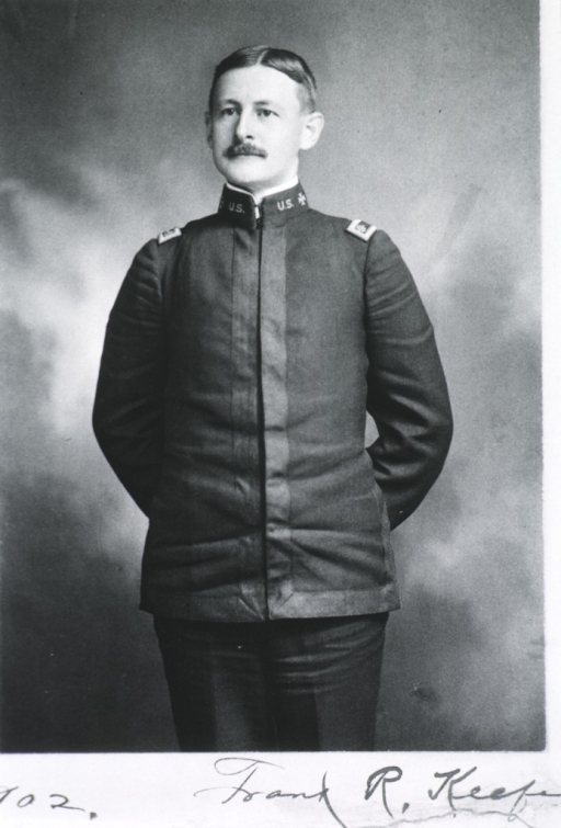 <p>Three-quarter length, standing, full face; wearing uniform; hands together behind back; age 37.</p>