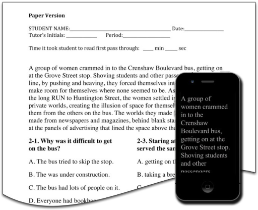Sample stimuli comparing paper and iPod conditions.In t | Open-i