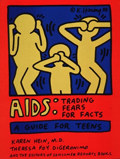 <p>Predominantly red poster with yellow and black lettering.  Visual image is an illustration of three slightly abstract human figures.  The figures use their hands to cover either their ears, mouth, or eyes, as if acting out the adage &quot;hear no evil, speak no evil, see no evil.&quot;  Title below illustration refers to a book written by Karen Hein, Theresa Foy DiGeronimo, and the editors of Consumer reports books.</p>