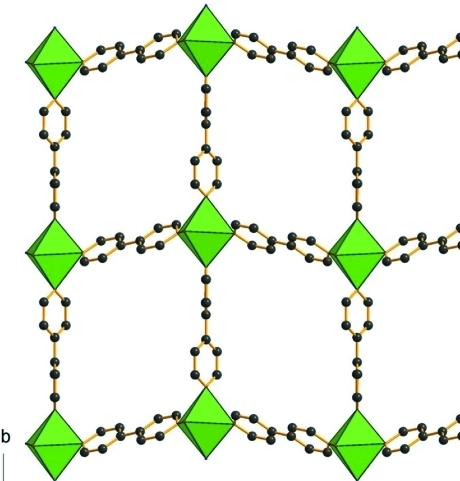 Crystal structure of the title compound showing the two-dimensional layers. The H atoms are omitted for clarity.