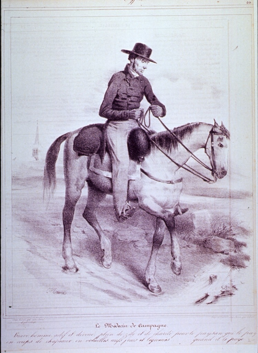 <p>A physician on horseback.</p>