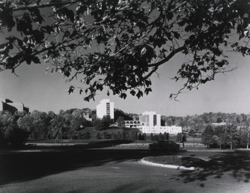 <p>Panoramic view of Building 31 taken from the Navy grounds across Rockville Pike.</p>