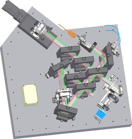 Sketch of the practical realization of the designed experimental setup.