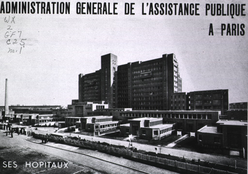<p>Booklet of pictures of various hospitals in Paris, showing exterior and interior views.</p>