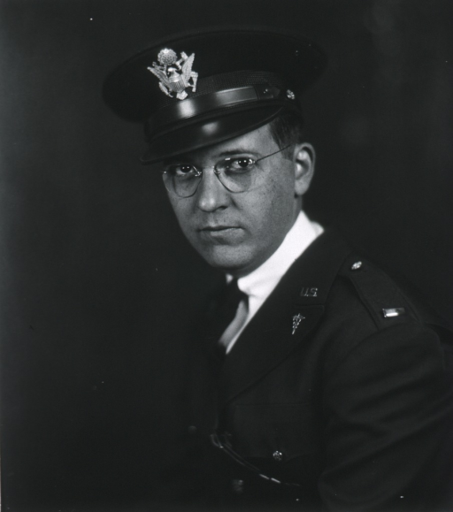 <p>Head and shoulders, left pose, full face, wearing uniform and cap (Lieut.).</p>