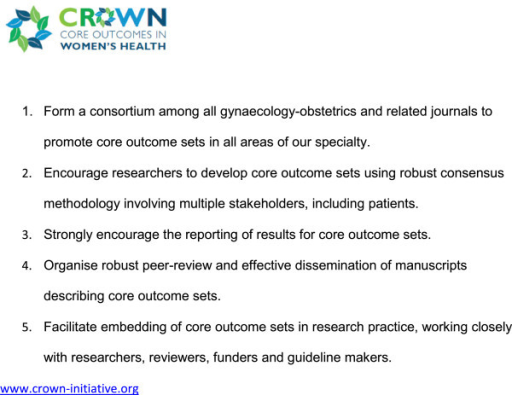 Aims of The CROWN Initiative.
