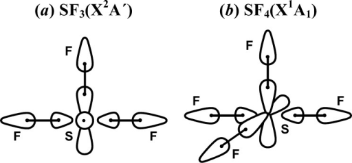 Schematic Orbital Diagrams For A Sf3 And B Sf4 Open I