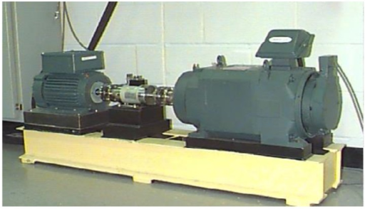 The rolling bearing fault test-bed.