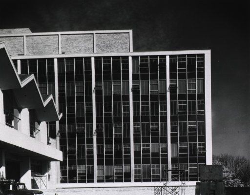 <p>Exterior view of Building 31, B-Wing, under construction.</p>