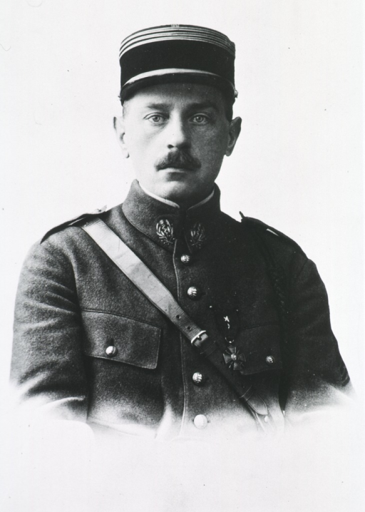 <p>Head and shoulders, front pose, in uniform and cap.</p>