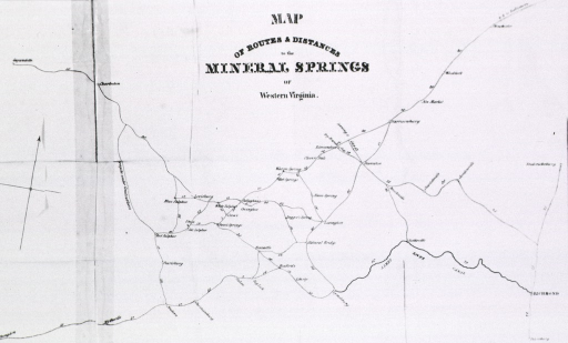 <p>Map of mineral springs and their proximity to Richmond, Virginia.</p>