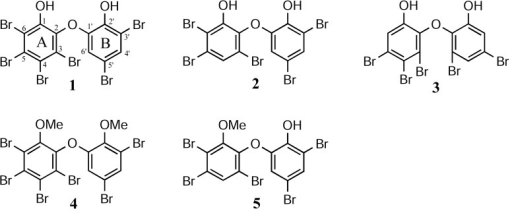 Structures of compounds 1–5.