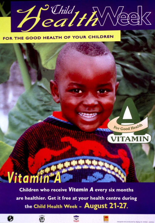 <p>Multicolor poster.  Title at top of poster.  Visual image is a color photo reproduction of a smiling young boy.  Caption below photo.  Publisher and sponsor information at bottom of poster.</p>