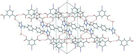 Hydrogen-bond ribbon structure.