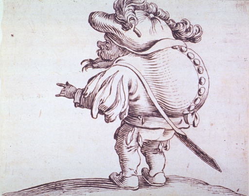 <p>Grotesque figure of a humpbacked man.</p>
