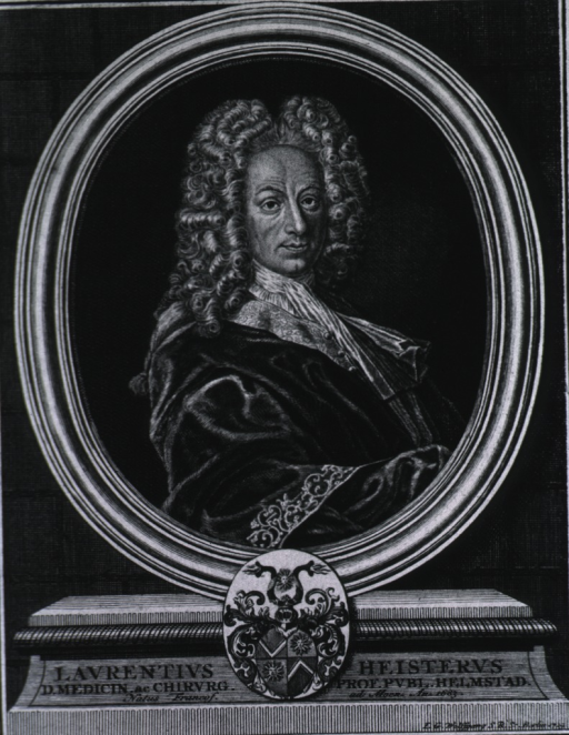 <p>Head and shoulders, right pose, full face; in oval on pedestal, with coat-of-arms.</p>
