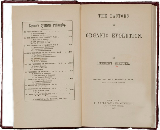 <p>Image of title page and facing page containing other titles in the series: First principles, The principles of biology, The principles of psychology, Principles of sociology, Principles of morality.</p>