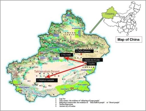 Xinjiang Map Location Of Study Areas In Xinjiang Inclu Open I